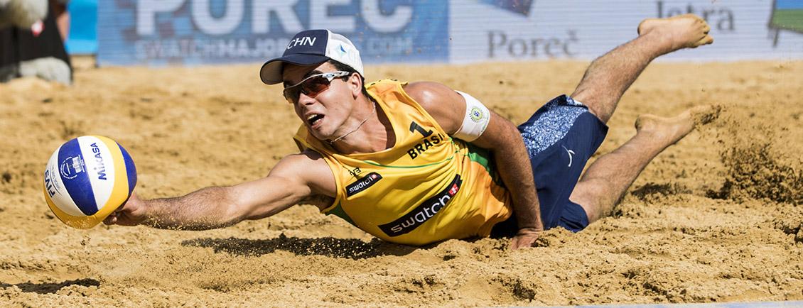 duiken in het zand
