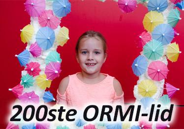 ORMI verwelkomt 200e lid